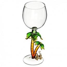 """Дизайнерский бокал для вина """"Обезьяна под пальмами"""", 350мл"""
