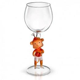 """Дизайнерский бокал для вина """"Обезьяна с подарком"""", 350мл"""