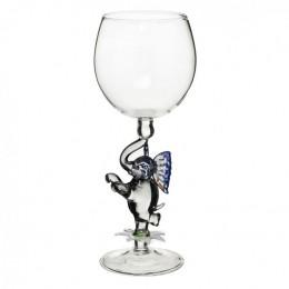 """Дизайнерский бокал для вина """"Слоник на цветке"""", 350мл"""