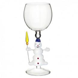 """Дизайнерский бокал для вина """"Снеговик с метёлкой"""", 350мл"""
