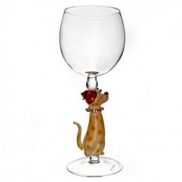 """Дизайнерский бокал для вина """"Собака в горошек"""", 350мл"""