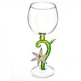 """Дизайнерский бокал для вина """"Утренний цветок белый"""", 350мл"""