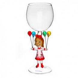"""Дизайнерский бокал для вина """"Жизнь прекрасна"""", 350мл"""