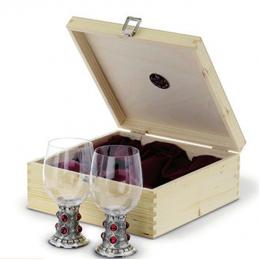 "Набор из 2-х бокалов для вина из олова ""Rubin"""