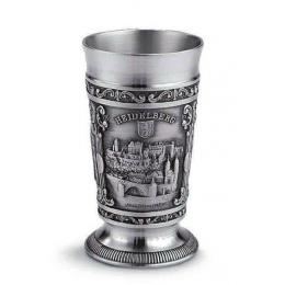 """Подарочный бокал для вина из олова """"Heidelberg"""" выс.10см"""