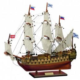 """Модель 64-пушечного линейного корабля """"Ингерманланд"""" (1715г.) 50см"""