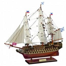 """Модель 74-пушечного парусного корабля """"Азов"""" (1826г.) 50см"""
