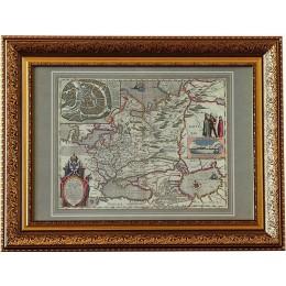 Карта России Гесселя Герритса в багете