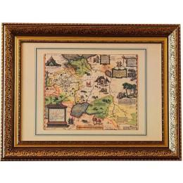 """Карта старинная """"России, Московии и Тартарии"""", 16 век"""