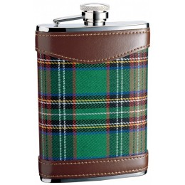 """Фляга 0,27л S.Quire """"Шотландка"""" (зеленый)"""