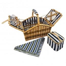 """Набор для пикника в плетеной корзине на 4 персоны """"Friendly family"""""""