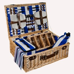 """Набор для пикника в плетеной корзине на 4 персоны """"Летний бриз"""""""