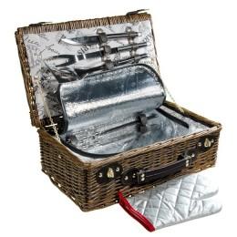 """Набор для пикника в плетеной корзине """"Путешествие"""""""