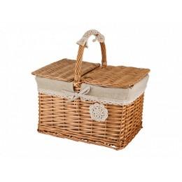 """Плетеная корзинка для пикника с ручкой """"Алатея"""""""