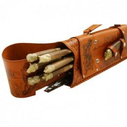 Шампурница подарочная «Ружье» в чехле из натуральной кожи