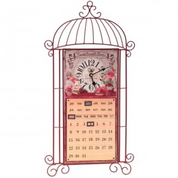 "Декоративное панно с часами и календарем ""Home Sweet"""