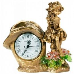 """Декоративные часы с хрустальными цветами """"Лесная фея"""", выс.25см"""