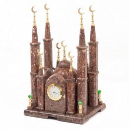 """Декоративные малые часы из креноида """"Мечеть"""", высота 42 см"""
