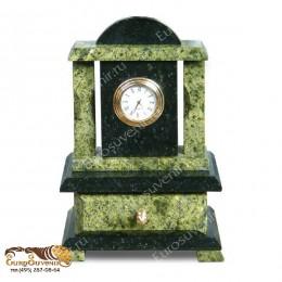 """Настольные часы со шкатулкой из натурального камня """"Шарм"""" выс.17см"""