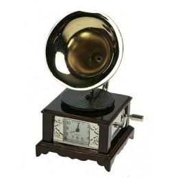 """Сувенирные часы """"Граммофон"""" (латунь)"""