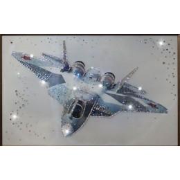 """Картина Swarovski """"Истребитель в небе"""""""