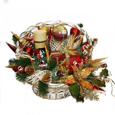 """Букет из конфет """"Рождественские мотивы"""""""