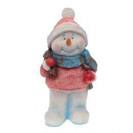 Фигура декоративная Снеговик с мешком