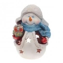 """Фигура садовая """"Снеговик с подарками"""""""