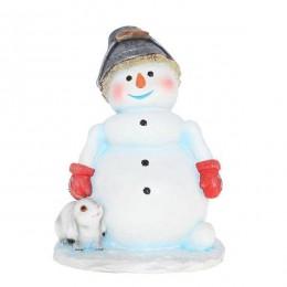 """Фигура садовая """"Снеговик с ведром"""""""