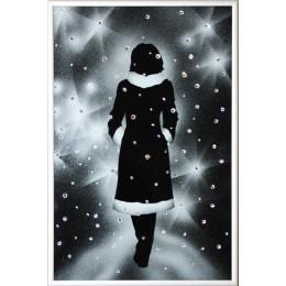 Хрустальная картина Девушка под снегом