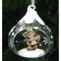 """Новогоднее украшение """"Санта с елкой"""""""