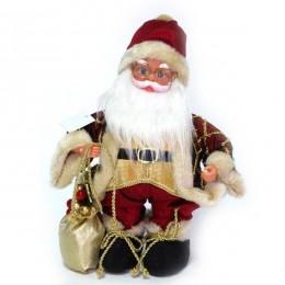 "Музыкальная новогодняя кукла ""Санта Клаус"" h.30см"