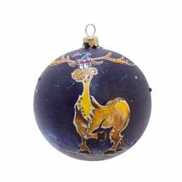 """Новогодний шарик с кристаллами Swarovski """"Сказочный"""", d.10см"""