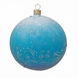 """Новогодний шарик с кристаллами Swarovski """"Зимнее великолепие"""", d.10см"""