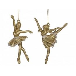 """Украшение для ёлки """"Балерина в золоте"""""""