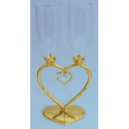 """Свадебные бокалы с подвеской """"Сердце"""""""