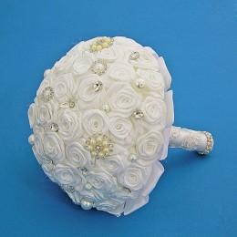"""Свадебный букет невесты """"Белые розы"""""""