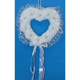 """Свадебное украшение """"Сердце из ромашек"""""""