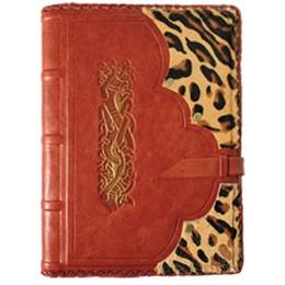 """Ежедневник в кожаной обложке """"Леопард"""""""