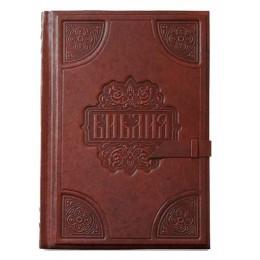 """Подарочная книга в кожаном переплете """"Библия большая"""""""
