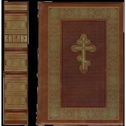"""Книга подарочная в кожаном переплете """"Библия"""""""