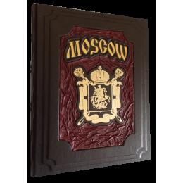 """Подарочная книга в кожаном переплёте """"Moscow"""""""