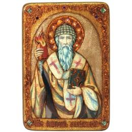 Большая икона Святитель Спиридон Тримифунтский