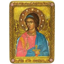 Икона живописная Ангел Хранитель на кипарисе