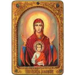 Живописная икона Божией матери Знамение