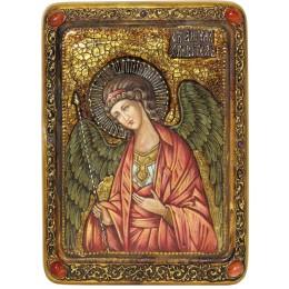 """Живописная икона на кипарисе """"Ангел Хранитель"""""""