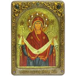 """Живописная икона """"Образ Божией Матери """"Покров"""""""