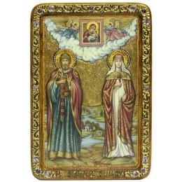 Живописная икона Петр и Февронья