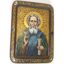 """Живописная икона """"Преподобный Сергий Радонежский"""""""