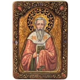 """Живописная икона """"Святитель Григорий Богослов"""""""